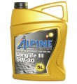 Масло моторное Alpine Longlife III 5W-30 синтетическое 5л