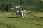 Вертолет для обработки сахарной свеклы