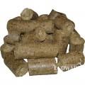 Топливные брикеты из соломы Nestro в мешках по 45 кг