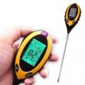 PH-метр, влагомер, термометр, люксметр для почвы AMT-300