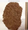 Лен органический, коричневый