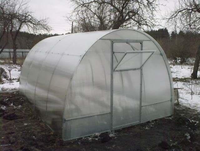 Теплица 3х4х2.1 м. из поликарбоната - Изображение 1